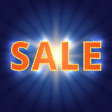 Sale background with retro effect Royalty Free Stock Photo
