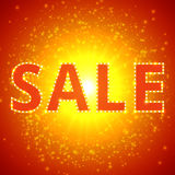 Sale background with retro effect Stock Image