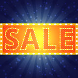 Sale background with retro shining effect Stock Image