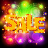 Sale background with shining effect Royalty Free Stock Images