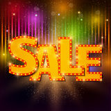 Sale background with shining effect Royalty Free Stock Image