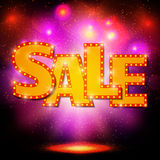 Sale background with shining effect Stock Photos