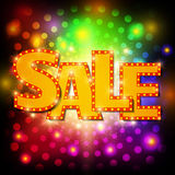 Sale background with shining effect Stock Photography