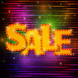 Sale background with shining effect Stock Images