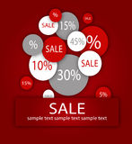 Sale background vector Royalty Free Stock Photos