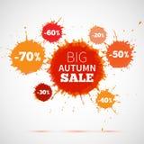 Sale badge, autumn sale label, autumn sale banner.  Stock Image