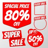 Sale badge banner. With varity shape stock illustration
