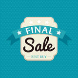 Sale badge design Royalty Free Stock Images
