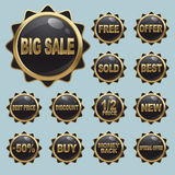 Sale Badge Icon Sets Stock Image