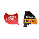 Sale badge stickers percent discount black friday symbols vector illustration. Stock Images