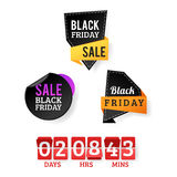 Sale badge stickers percent discount black friday symbols vector illustration. Stock Photography