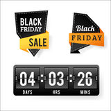 Sale badge stickers percent discount black friday symbols vector illustration. Royalty Free Stock Images