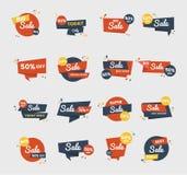 Sale badge vector design set royalty free illustration
