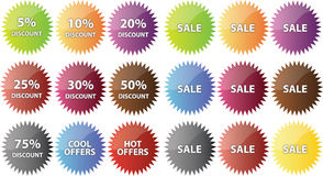 Sale badges Stock Photo