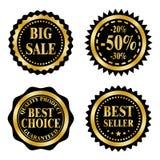 Sale badges on Black Friday theme Royalty Free Stock Photos