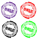 Sale badges royalty free illustration