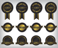 Sale badges and labels illustration Royalty Free Stock Image