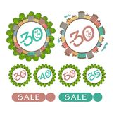 Sale badges vector illustration