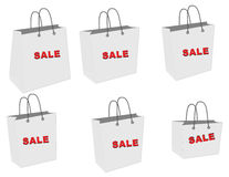 Sale bag. S in white background Royalty Free Stock Image