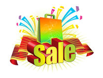 Sale and bag Stock Photography