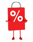 Sale bag  figure Stock Photo