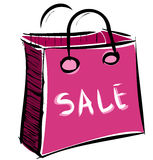Sale bag icon Stock Photo