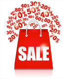 Sale bag. Royalty Free Stock Photography