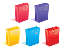 Sale bags. Different colored shopping bag symbols Stock Image