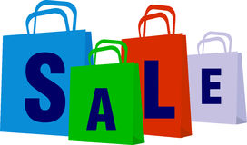 Sale bags Stock Photography