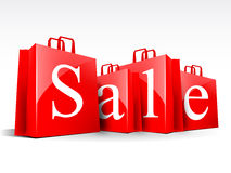 Sale bags Royalty Free Stock Image