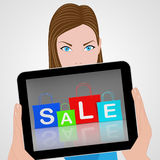 Sale Bags Displays Retail Buying and Shopping Royalty Free Stock Photo