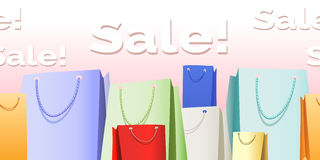 Sale bags pattern Royalty Free Stock Images