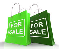 For Sale Bags Represent Retail Selling and Offers Stock Photography
