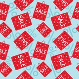 Sale bags seamless pattern Stock Images