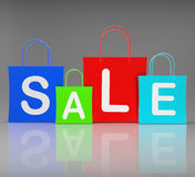 Sale Bags Show Retail Buying and Shopping Royalty Free Stock Image