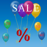 Sale balloon discount concept Stock Photography