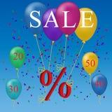 Sale balloon discount concept Royalty Free Stock Photos