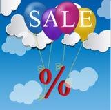 Sale balloon discount concept Stock Photos