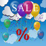Sale balloon discount concept Royalty Free Stock Photography