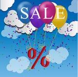Sale balloon discount concept Stock Photo
