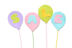 Sale balloon paper cut on white background Stock Photo
