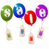Sale balloons concept Stock Photography
