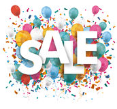 Sale Balloons Confetti Stock Photography