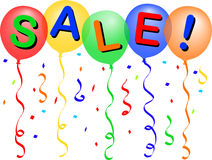 Sale Balloons/eps royalty free illustration