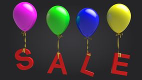Sale balloons Royalty Free Stock Photography