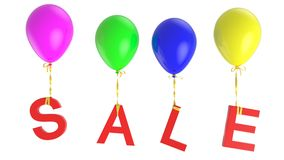 Sale balloons Royalty Free Stock Photos
