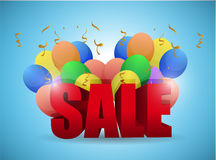 Sale balloons illustration design Stock Photos
