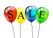 Sale balloons isolated Royalty Free Stock Image