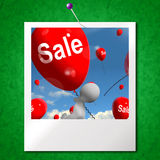 Sale Balloons Photo Shows Offers in Selling and Discounts Stock Images