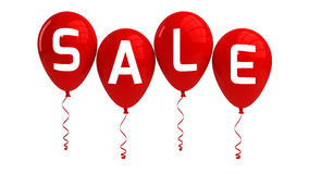 SALE balloons, red, isolated Royalty Free Stock Images